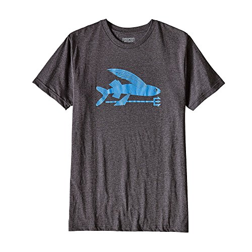 "Herren Outdoor-Shirt / T-Shirt ""Flying Fish"" Schwarz"