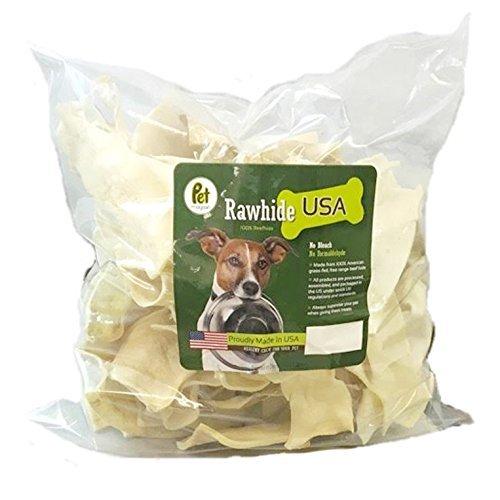 Pet Magasin - Patatas de Cuero Crudo Natural – Caprichos Excelentes y de Larga duración para Perros con cueros de Ternera Cortados, procesados sin aditivos ni químicos.