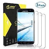 CRXOOX 3-Pack Verre Trempé pour Samsung Galaxy S7 Protecteur d'écran [2.5D Rond...
