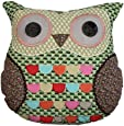 Sass Belle Owl Cushion, Green