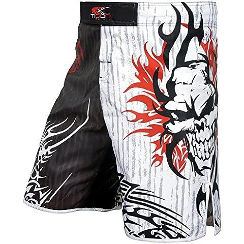 Gabbia di MMA Pantaloncini Gel Lotta MMA Kick Boxing Muay Thai Pantaloni Palestra, S