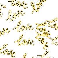 Oblique Unique® Love Confetti Real Wood Natural Wedding Love Confetti Decoration Decoration Decoration