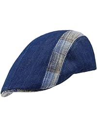 EveryHead Fiebig Ladies Flatcap Flat Cap Hat with Visor Peaked Summer Brand  Uni Checked for Women 6b0c18d0341b