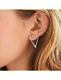 1369bf451723 Jovono Pendientes de moda con aleación triángulo pendientes traseros para  mujeres ...