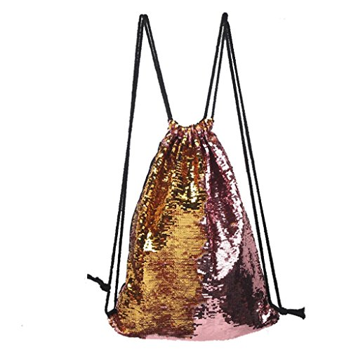 tonsee-drawstring-backpack-fashion-outdoor-roses-sports-casual-double-color-sequins-unisex-chest-bag
