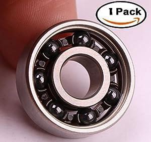 SKKXY Hybrid Ball Bearings Running 2 minutes For Tri-Spinner Hand Spinner EDC Fidget Toy(1P-BH-WBall)