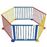 COSTWAY Laufgitter Laufstall Schutzgitter Kinderschutzgitter Krabbelgitter Absperrgitter 6/8 Elemente für Babys und Kleinkinder (Modell 1)