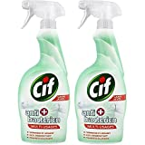 CIF Pistolet Spray Nettoyant Antibactérien sans Javel 750 ml - Lot de 2