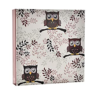 ARPAN Owl Design Slip in Case Memo Album 6x4 for 200 Photos, 23 X 23 cm