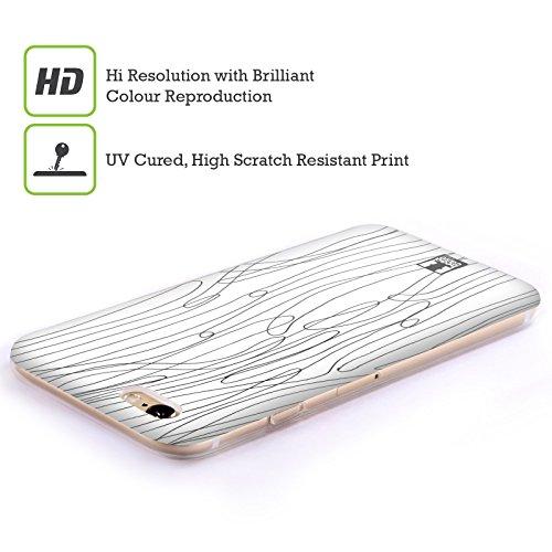 Head Case Designs Pois Griffonnage Blanc Et Noir Étui Coque en Gel molle pour Apple iPhone 6 / 6s Algues