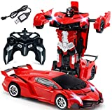 SUPER TOY Battery Operated Robot Races Car 2-in-1 Transform Car Toy with Bright
