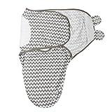 Baby Pucksack Wickel-Decke Premium Baumwolle Schlafsack Decke für Säuglinge Babys Neugeborene (A)