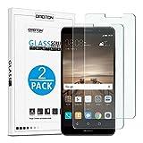 OMOTON Huawei Mate 9 Pellicola Protettiva in Vetro Temperato - bordi arrotondati 2.5D - Durezza 9H - Garanzia a vita [2 Pezzi]