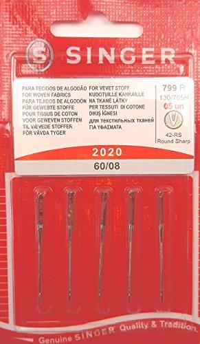 5original Singer coser agujas 2020grosor 60/08tejida