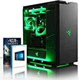VIBOX Gaming PC - Rainmaker 80 - 4.5GHz Intel i7 Quad Core CPU, Geforce GTX 1060, VR Ready, Water Cooled, Desktop Computer with Game Bundle, Windows 10 OS, Green Internal Lighting and Lifetime Warranty* (Super Fast Intel i7 7700K Kabylake 4-Core CPU Processor, Nvidia GeForce GTX 1060 3GB Graphics Card, 32GB Team Elite 2133MHz DDR4áRAM Memory, 3TB (3000GB) Sata III 7200rpm Hard Drive HDD, Raijintek Triton AIO Liquid CPU Water Cooler, 600W 85+ PSU, NZXT H440 Case, Z270 Motherboard)