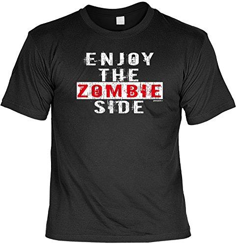 Halloween Grusel T-Shirt - Enjoy the Zombie Side! Halloween Kostüm Schwarz