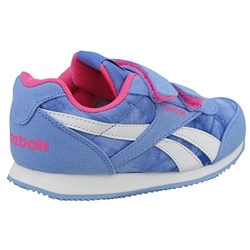 Reebok Royal Cljog 2gr 2v, Chaussures de Running Entrainement Fille Azul / Rosa / Blanco (Galaxy / Solar Pink)