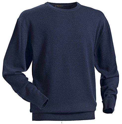 Royal Spencer Herren Rundhals-Pullover aus Kaschmir-Seide, Kaschmirpullover in Dunkelblau, kuscheliger Winterpullover, angenehm zu tragen (Gr: M - XL) (Blau Kaschmir Royal)