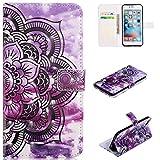 OnlyCase Coque iPhone 7 / iPhone 8, Peint Mode PU Cuir Étui Housse de Protection...