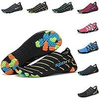 KOUDEN Zapatos de Agua Sandalias Mujer con Suela Antideslizante Hombre Playa Escarpines para Yoga Buceo Surf Deportes Acuáticos