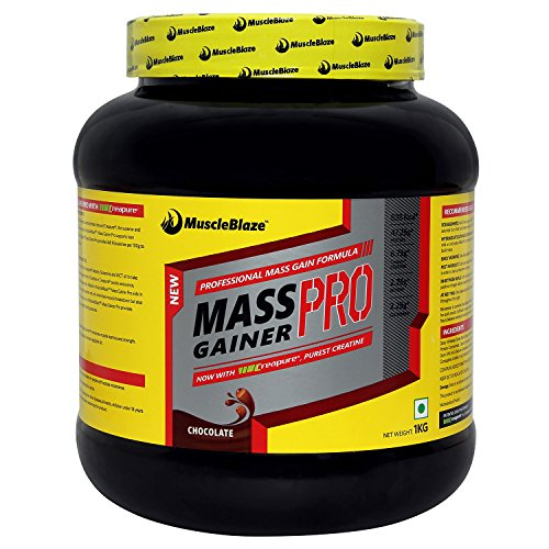 MuscleBlaze Mass Gainer PRO with Creapure, Chocolate 1 kg / 2.2 lb
