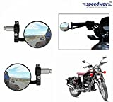 #5: Speedwav Bike Handle Grip Rear View Mirror CHROME Set Of 2-Royal Enfield Classic