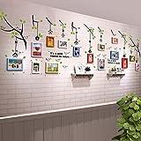 UILS 15 Schachteln Kinderzimmer Echte Holzrahmen Wand Einfache Moderne Fototapete Wohnzimmer Gänge Restaurant Büro Dekoriert Große Wand Bilderrahmen Wand (Farbe : #1)