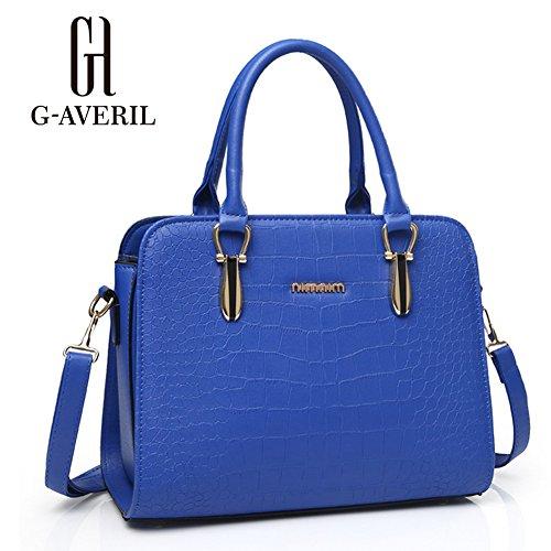 (G-AVERIL) Borse Donna,GAVERIL Borse Tracolla in PU Pelle Borse Grandi Borse Spalla Tote Bag Blu scuro