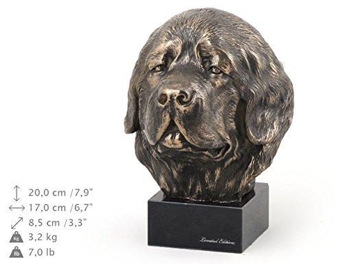 Newfoundland, Hund, Marmor, Statue, Kopf, Limitierte Edition, Art Dog (Neufundland Kopf)