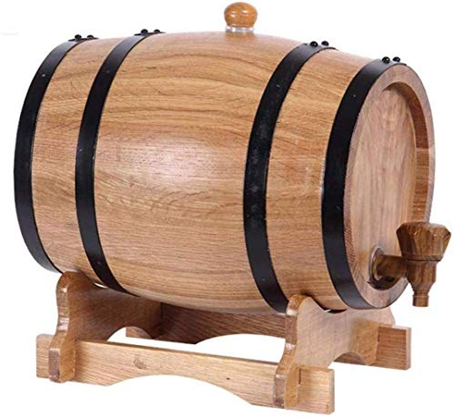 FXDCQC Whisky Wein Fass, Weinfass Whiskyfass, Exklusive Weinfass Mit Regal, Aluminium Foil Liner, 5L/3L/10L/20L