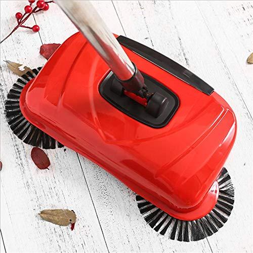 soundwinds Hand Push Boden Kehrmaschine Besen kehren Maschine ohne Elektrizität 360 Rotary Edelstahl Lazy Broom Haushaltsreinigung einschließlich Besen Kehrschaufel -