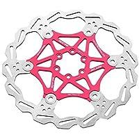 Bicicleta Freno de Disco Bicicleta de montaña 203 mm Flotador Flotante Disco de Freno Rotor Ciclismo Bicicleta (Rojo) - Matefieluk