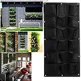 Dabixx 18 Pocket Vertical Greening Hängende Wand Garten Pflanzen Taschen Wall Planter