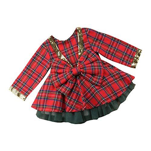 Bibao Kleid, für Kleinkinder, Babys, mit roter Schleife -