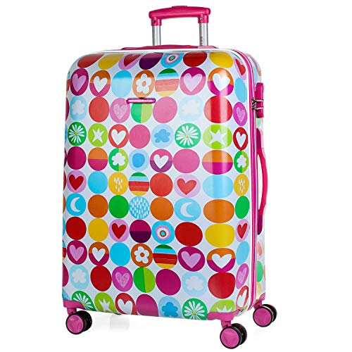 Agatha Ruiz De La Prada Happy Koffer, 66 cm, 65 liters, Pink (Fucsia)