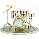 Nouveauté! Horloge de Collection Miniature en Forme de Batterie Dorée et Argentée