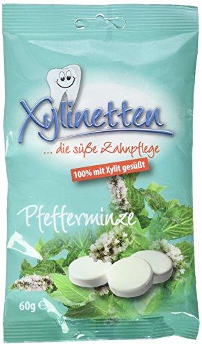 Xylinetten Xylitol-Bonbons Pfefferminz, 2er Pack (2 x 60 g)