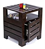 #3: TimberTaste Planko Solid Wood Side Table (Dark Walnut Finish)