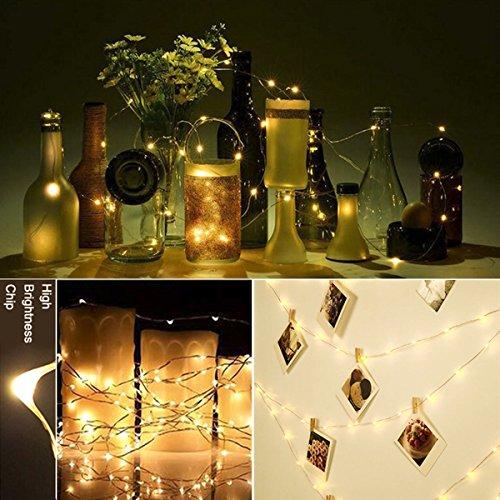 Greenclick 20m 200 Leds Lichterkette Batterie,deko Lichterkette Warmweiß Außenbeleuchtung Kupferdraht Wasserdicht Ip65,innenbeleuchtung Fernbedienung 8 Modi,timer Deko Für Outdoor,garten,party,weihnachten