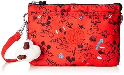 Kipling Mickey Eyes Wide Open D Riri Large Pouch Umhängetasche Sketch Red Rot