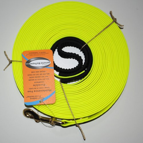 BioThane Schleppleine 10 Meter Neon Gelb 16 mm breit