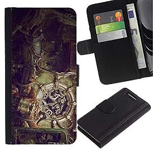 JackGot ( Illustration Steampunk ) Sony Xperia Z1 Compact / Z1 Mini (Not Z1) D5503 Credit Card Slots PU Wallet Pouch Housse de protection Skin Cas Case Coque