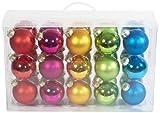 Heitmann Brauns 86736 30-teiliges Glaskugelset im Koffer, 6 cm, matt und glänzend sortiert