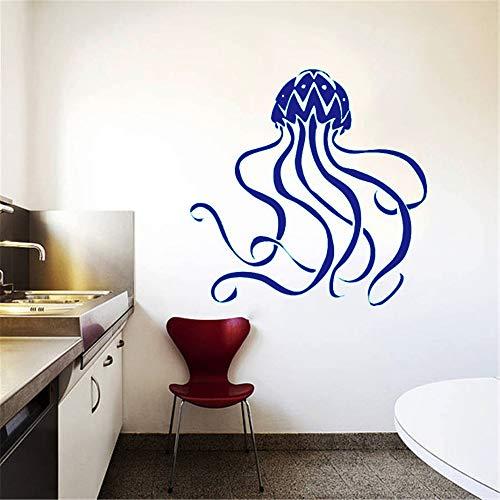 Tiefsee Meerestiere Wandtattoos Quallen Muster Kunst Niedlich Design Wandaufkleber Mode Stil Home Schlafzimmer Dekor 71 * 71 cm