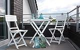 Consul Garden Balkonset-665030, weiß, 180 x 130 x 50 cm, CG665030