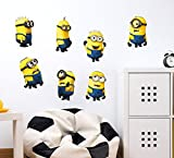 #9: Decals Design Wall Stickers Minions With Several Expressions Design For Kids Nursery School Decoration Vinyl (PVC Vinyl, 50 x 70 cm, Multicolor)