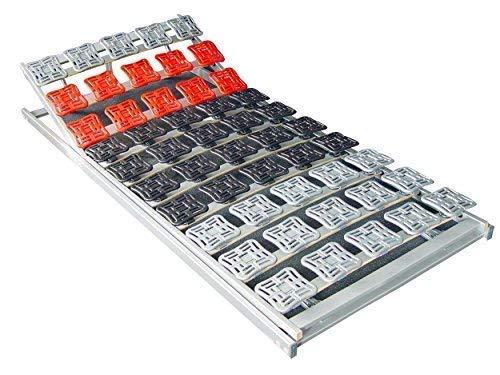 supply24 5 Zonen Teller Lattenrost/Tellerfeder Lattenrahmen 120 x 200 oder 140 x 200 cm Kopfteil und Fußteil verstellbar Tellerlattenrost/Tellerlattenrahmen günstig -