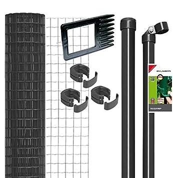 Wundervoll Fix-Clip Pro Zaun im Set zum Einbetonieren (Höhe: 100 cm x Länge  VL28