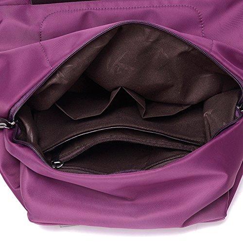 LINGE-Tempo libero borsa a tracolla ladies Oxford Bunni lungo capiente zaino borsa di tela , rose red Purple