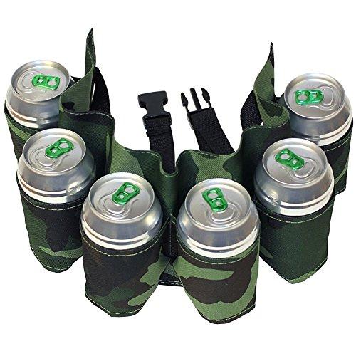 6-Pack Bier Gurtel, Bier Holster, Camouflage Grun